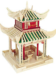 Jigsaw Puzzles Wooden Puzzles Building Blocks DIY Toys Love Late Pavilion 1 Wood Ivory Model & Building Toy