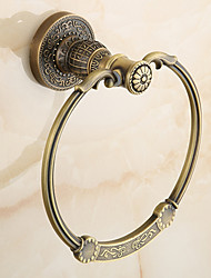 Antique Brass-Plated finishing Bathroom Accessories Brass Material Towel Rings