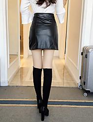 signer l'automne version coréenne de la nouvelle d'un solide couleur tirette décoration emballage mince jupe hanche buste