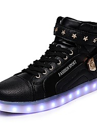 Young People's Shoes Libo New Style Casual / Party Comfort Black / White/ Red Led Flash Fashion Sneakers