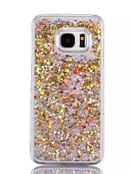 Para Liquido Flutuante Capinha Capa Traseira Capinha Brilho com Glitter Rígida PC para SamsungS7 edge / S7 / S6 edge plus / S6 edge / S6