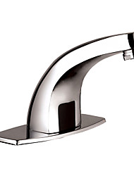 Contemporary Automatic Induction Bathroom Sink Faucet - Silver