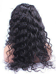 Peruvian Virgin Loose Curly Full Lace Wig With Baby Hair Unprocessed Full Lace Human Hair Curly Wigs For Fashion Women