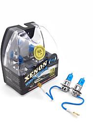 hm® h3 plasma xenon farol lâmpada 12v 100w halogéneo lâmpadas brancas (um par)