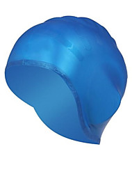 Swim Caps Unisex silicone Red  Yellow  Blue  Black  White  Silvery