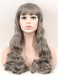 Europe and the United States Fashion Grandmother Gray Gray High - Temperature Silk Real Big Wave Wig
