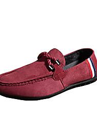 Men's Loafers & Slip-Ons Spring Fall Comfort Fleece Casual Flat Heel Black Blue Red Walking
