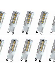 4W E14 / G9 / G4 LED à Double Broches T 33LED SMD 2835 300-350LM lm Blanc Chaud / Blanc Froid Décorative AC110 / AC220 V 10 pièces