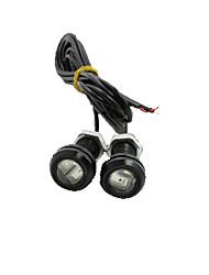 LED Eagle Eye Daytime Running DRL Backup Light Fog Car Auto Red 12V 18MM 9W X 4