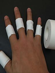 экспорт хлопка зазубренный край защита движения ленты, играя на пианино волейбол палец баскетбол голеностопа повязку белый мелкий ткань