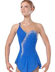 Robe de Patinage Femme Sans manche Sports de neige Ski alpin Robes Haute élasticité Robe de patinage artistique Design Anatomique Paillété