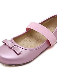 Flats Fall Comfort Light Up Shoes PU Casual Flat Heel Bowknot Pink Fuchsia Other