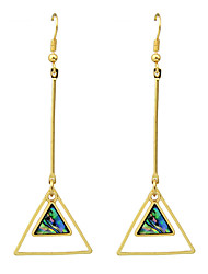 Fashion Circle Triangle Square Imitation Gemstone Long Earrings