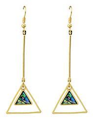 Fashion Circle Triangle Square Imitation Gemstone Long Earrings