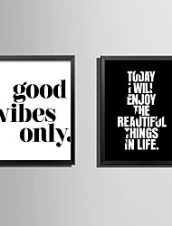 E-HOME® Framed Canvas Art Letters and Proverbs Theme Series Framed Canvas Print One Pcs