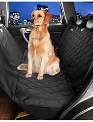 Dog Car Seat Cover Pet Mats & Pads Waterproof Foldable Black Textile