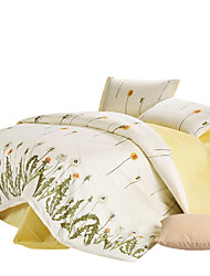 Mingjie 100% Cotton White Flowers Bedding Sets 4PCS for Twin Full QueenSize from China Contian 1 Duvet Cover 1 Flatsheet 2 Pillowcases