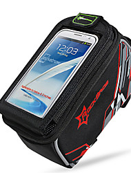 Bike BagBike Frame Bag Waterproof Waterproof Zipper Wearable Phone/Iphone Breathable Touch Screen Shockproof Bicycle Bag Nylon Cycle Bag
