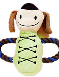 Dog Toy Pet Toys Plush Toy Cartoon Green Rubber