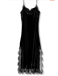Dress fashionable this season to autumn and winter essential velvet lace dress