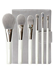 6 pcs Makeup Brushes Set Professional Blush/Foundation/ Eye Shadow Brush  Portable Laptop Model Brush Package