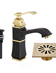 Waterfall Spout Oil Rubbed Bronze Single Handle Bathroom Sink Vessel Faucet Basin Mixer Tap Tall Body