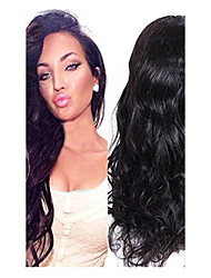 Natural Black Color Loose Body Wave Lace Wig Hairstyle 8A Brazilian Virgin Human Hair Lace Front Wig With Baby Hair