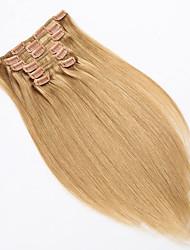 Clip im Haar pro Satz langen geraden Haarteile 15 18 20 22 Zoll 7 PC / Satz 70g Erweiterungen