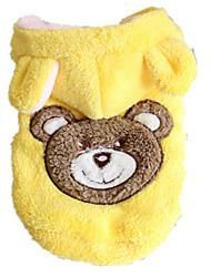Hunde Pullover Gelb Hundekleidung Winter / Frühling/Herbst Tier Lässig/Alltäglich / warm halten