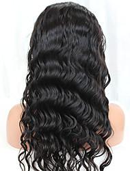 laço humano perucas de cabelo completos para as mulheres negras onda do corpo da Malásia cabelo virgem peruca cheia com cabelo do bebê