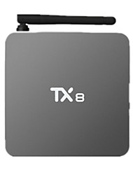 Tx8 Amlogic s912x núcleo octa Android 6.0 Smart TV 2 g ram 16g-ROM DVD WiFi Bluetooth 4.0