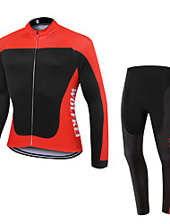 WOLFKEI Winter Thermal fleece Long Sleeve Cycling JerseyLong Tights Ropa Ciclismo Cycling Clothing Suits #WK60
