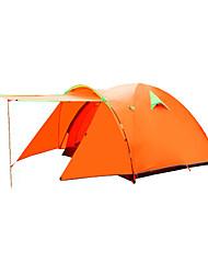 FlyTop® 3-4 Personen Zelt Doppel Einzimmer Camping Zelt >3000mmFeuchtigkeitsundurchlässig Wasserdicht Atmungsaktivität Regendicht Gut