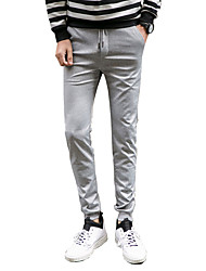 Men's Plus Size Slim / Skinny Chinos / Sweatpants Pants,Casual/Daily / Sports Vintage / Street chic / Active Solid Low RiseDrawstring /