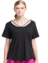 Running Tops Women's Short Sleeve Breathable / Quick Dry / Wearable / Comfortable TeryleneExercise & Fitness / Racing / Basketball /