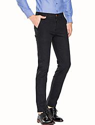 Hommes Mince Entreprise Pantalon,simple Décontracté / Quotidien Travail Soirée / Cocktail Couleur Pleine Taille Normale fermeture Éclair