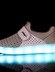 Jungen-Loafers & Slip-Ons-Lässig-Tüll-Flacher Absatz-Komfort Light Up Schuhe-Blau Grün Rot Grau