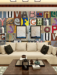 JAMMORY 3D Wallpaper For Home Contemporary Wall Covering Canvas Material Colored LettersXL XXL XXXL