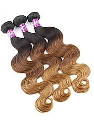 Âmbar Cabelo Peruviano Onda de Corpo 3 Peças tece cabelo