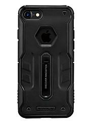 Pour Antichoc Avec Support Dépoli Coque Coque Arrière Coque Couleur Pleine Dur Polycarbonate pour Apple iPhone 7 Plus iPhone 7