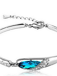 Women's Chain Bracelet Crystal Natural Sterling Silver Austria Crystal Irregular Blue Jewelry For Gift Valentine 1pc