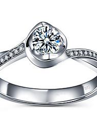 Ringe Alltag Normal Schmuck Aleación Zirkon Damen Ring 1 Stück,5 6 7 2 3 4 Silber