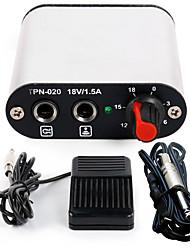 mini-puissance tatouage pédale kit d'alimentation cordon clip pour le kit machine p162-4