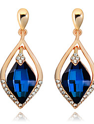 Drop Earrings Sapphire Crystal Statement Jewelry Drop Royal Blue Jewelry Wedding Party Daily 1 pair