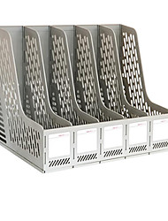 Five Column File Rack Office Supplies - Gray