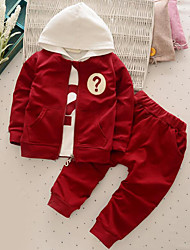 Boy's Casual/Daily Solid Clothing SetCotton Fall Green / Red
