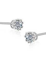Stud Earrings Jewelry Women Men Party Alloy 1pc Silver