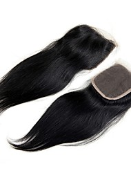 Base Closure Straight Silk Closure Virgin Hair Malaysian Straight Closure Human Hair Middle 3 Part Silk Base Closure  8 to 22inch Chinese Lace 100G/PC