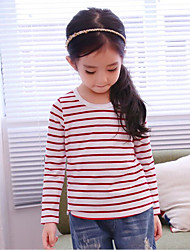 Girl Casual/Daily Striped Blouse,Rayon Spring Fall Long Sleeve