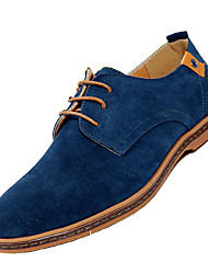 Men's Leather Shoes Oxfords Plus Size 2017 New Design Spring Summer Comfort Suede Office Casual Low Heel Fashion Styles High Quality Shoes